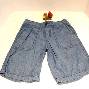 Gymboree chambray shorts with patch pockets